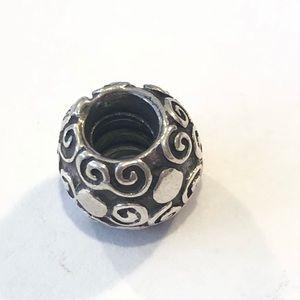 Pandora Jewelry - Pandora Sterling Swirls and Dots Charm
